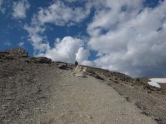Steiler Anstieg zum Gipfel - Mt Whistler