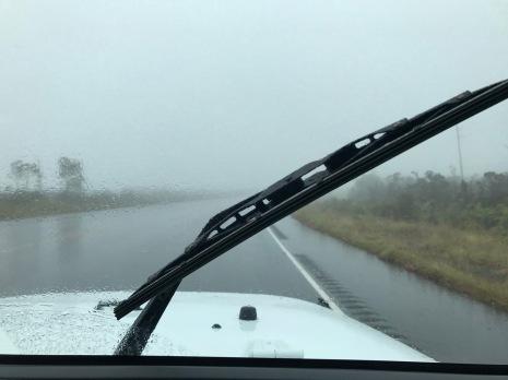 dichter Regen auf Big Island