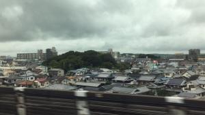 aus dem Zug bei 280 km/h