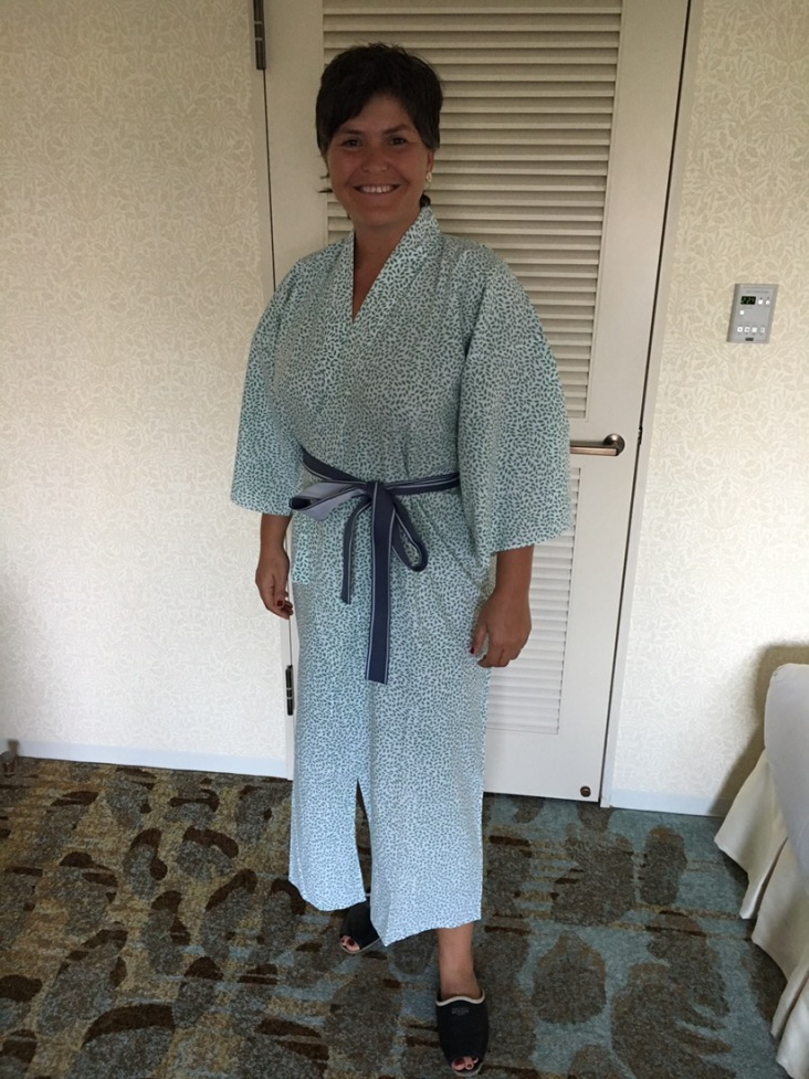 Kimono an und ab ins Bad!