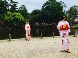 im traditionellen Kimono