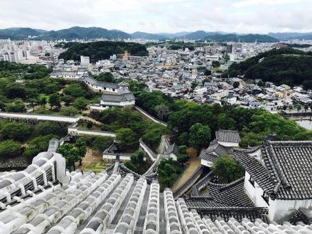 Burg Himeji und Stadt