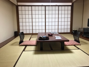 Unser Zimmer im Ryokan
