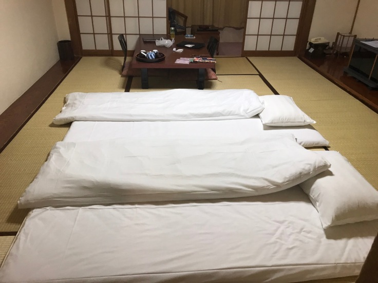 Tatami-Matte als Bett