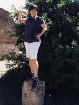 Lebendige Statue @ Ostia Antica