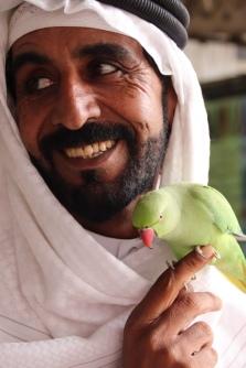 Beduine mit seinem Favoriten 'Lulu'